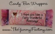 Birthday Fairy swirl Candy Bar Wrapper