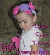 FREE Rolled Rose Tutorial