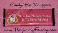 Valentine Princess Candy Bar Wrapper